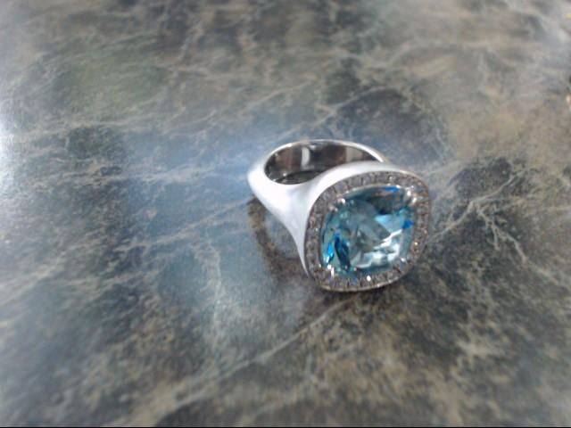 Lady's Gold Ring 18K White Gold 18.3g