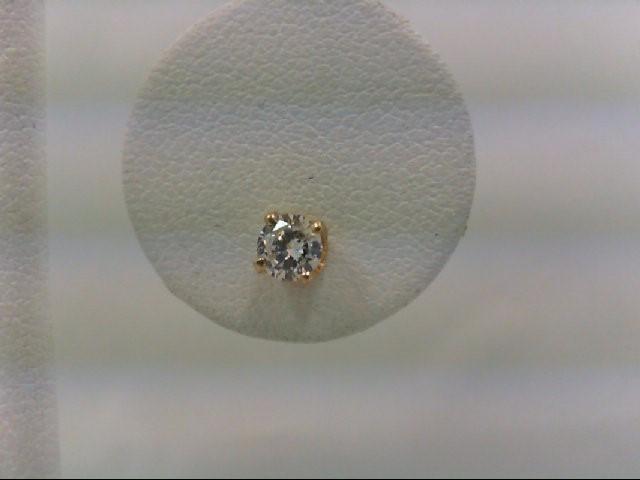 Gold-Diamond Earrings 0.22 CT. 14K Yellow Gold 0.5g
