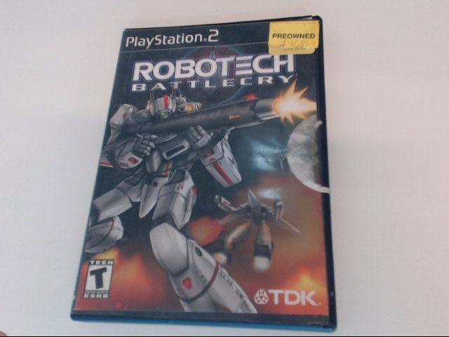 ROBOTECH BATTLECRY PS2 PLAYSTATION 2 GAME