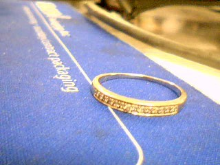Lady's Diamond Wedding Band 14 Diamonds .112 Carat T.W. 10K White Gold 1.7g