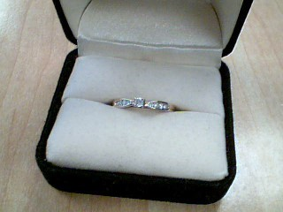 Lady's Diamond Solitaire Ring .07 CT. 10K Yellow Gold 1.9g