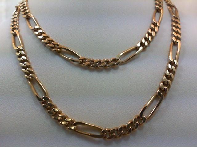"""24"""" Gold Figaro Chain 18K Yellow Gold 39g"""