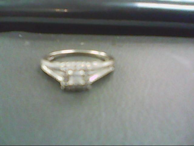 Lady's Diamond Cluster Ring 17 Diamonds .60 Carat T.W. 10K White Gold 1.9g