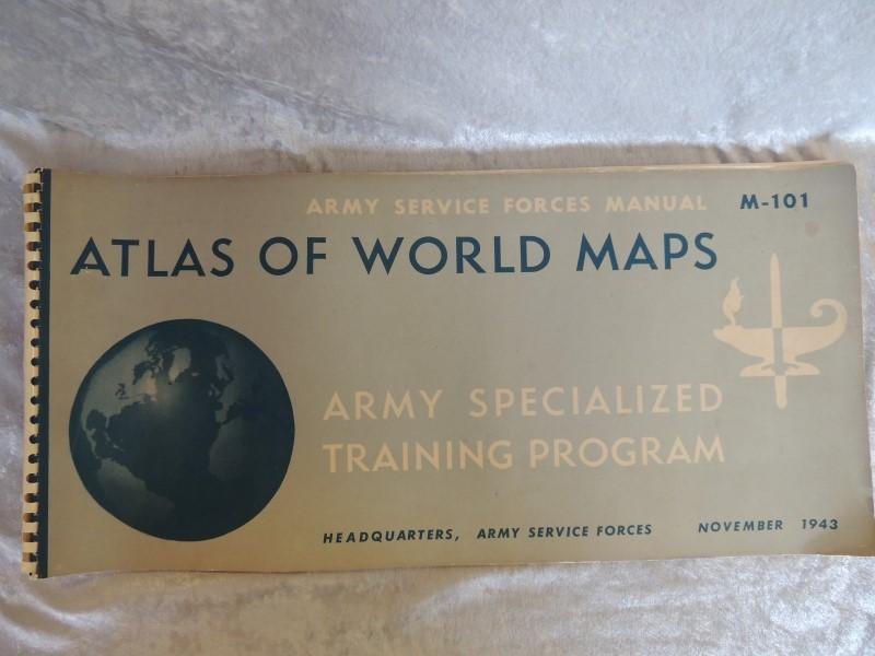 WORLD MAP ATLAS 1943 M-101