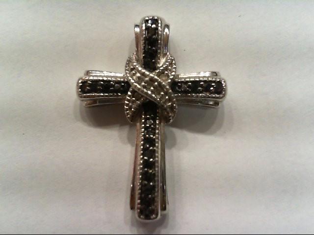 Silver-Diamond Pendant 23 Diamonds .115 Carat T.W. 925 Silver 1.7g