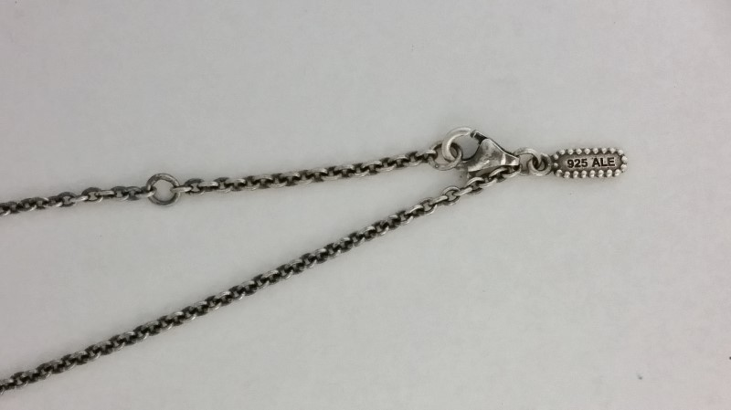 "14K 925 Retired Pandora ALE Diamond & Pearl Necklace ""Life's Path"" 590309D-45"