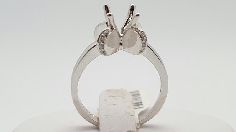 Lady's Diamond Engagement Ring 16 Diamonds .16 Carat T.W. 14K White Gold 4.8g