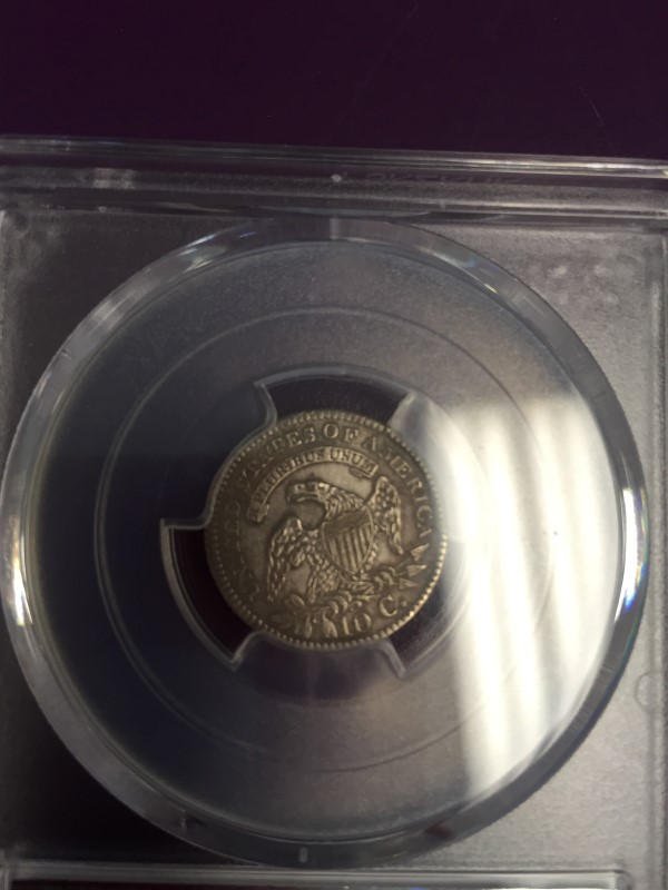 UNITED STATES 1820 O DIME  DRAPPED BUST PCGS XF DETAILS CLEANED