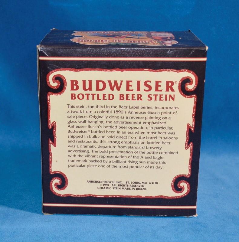 BUDWEISER COLLECTOR SERIES ANHEUSER-BUSCH BOTTLED BEERS BEER STEIN
