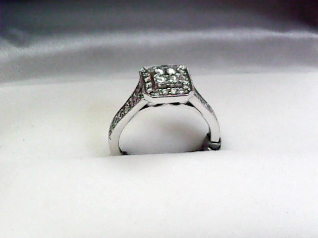 Lady's Diamond Fashion Ring 44 Diamonds .52 Carat T.W. 10K White Gold 2.3dwt