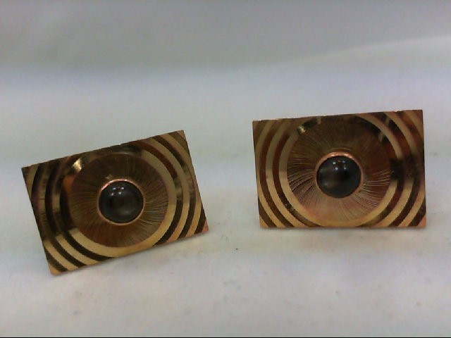 Gold Cuff Links 14K Yellow Gold 10.3g