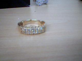 Lady's Diamond Wedding Band 14 Diamonds .70 Carat T.W. 14K Yellow Gold 5.68g