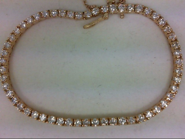 Gold-Diamond Bracelet 55 Diamonds 2.75 Carat T.W. 14K Yellow Gold 11.96g