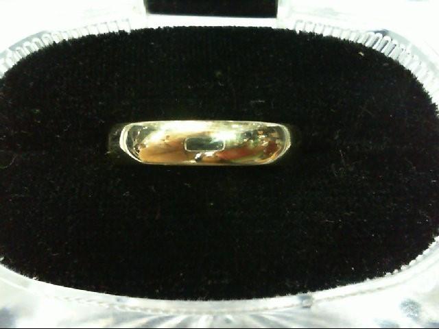 Lady's Gold Wedding Band 14K White Gold 2.4g Size:9.3