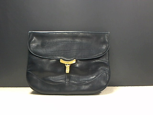 SALVATORE FERRAGAMO VINTAGE LEATHER CLUTCH