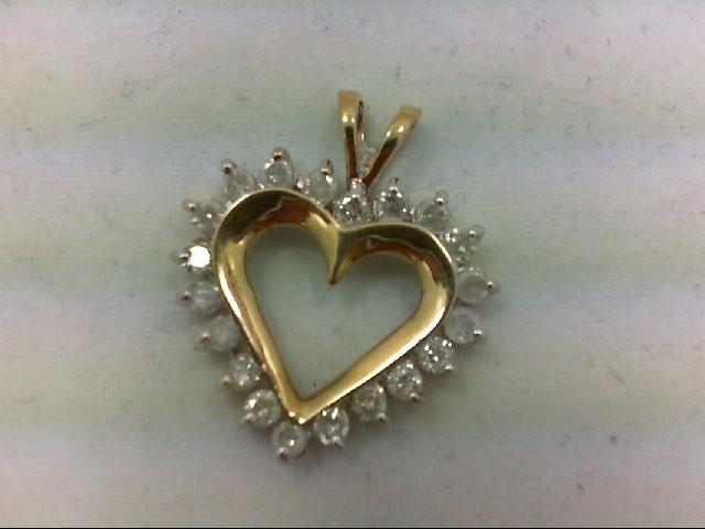 Gold-Multi-Diamond Pendant 20 Diamonds 1.2 Carat T.W. 10K Yellow Gold 2.8g