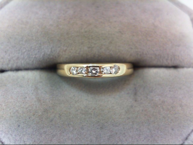 Lady's Diamond Wedding Band 5 Diamonds .17 Carat T.W. 14K Yellow Gold 2g