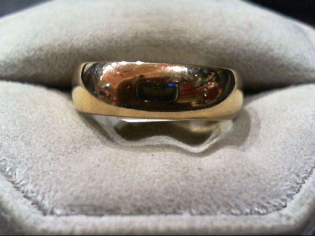 Gent's Gold Wedding Band 14K Yellow Gold 6.3g Size:11