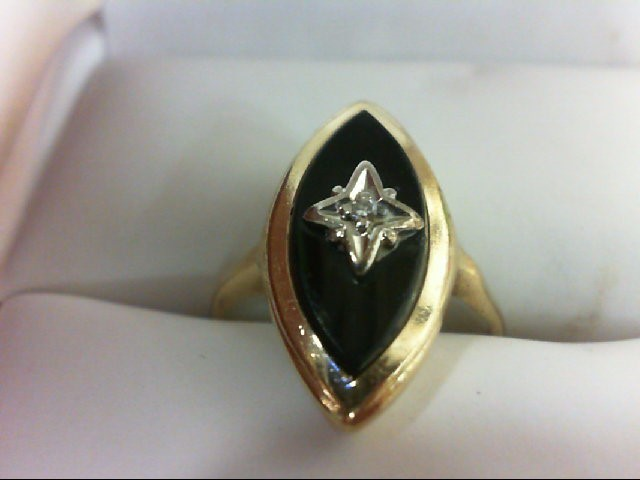 Lady's Diamond Fashion Ring 0.01 CT. 10K Yellow Gold 2.8g