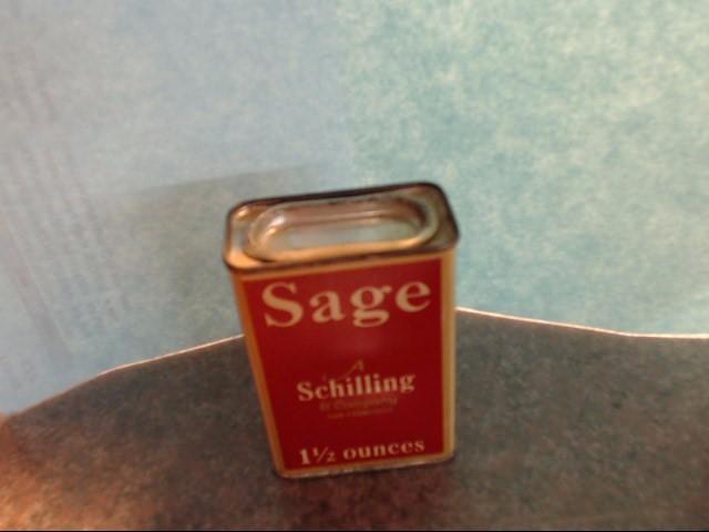 ANTIQUE SHILLING SAGE TIN