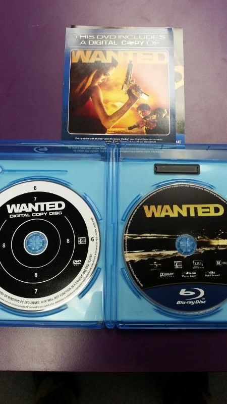 BLU-RAY MOVIE  WANTED