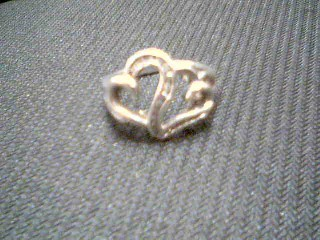 Lady's Silver-Diamond Ring 20 Diamonds .20 Carat T.W. 925 Silver 4.2g
