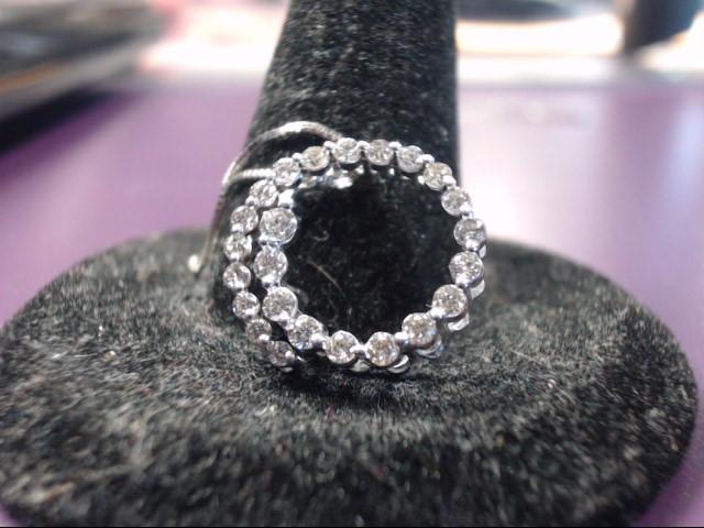 Gold-Multi-Diamond Pendant 23 Diamonds .69 Carat T.W. 10K White Gold 2.1g