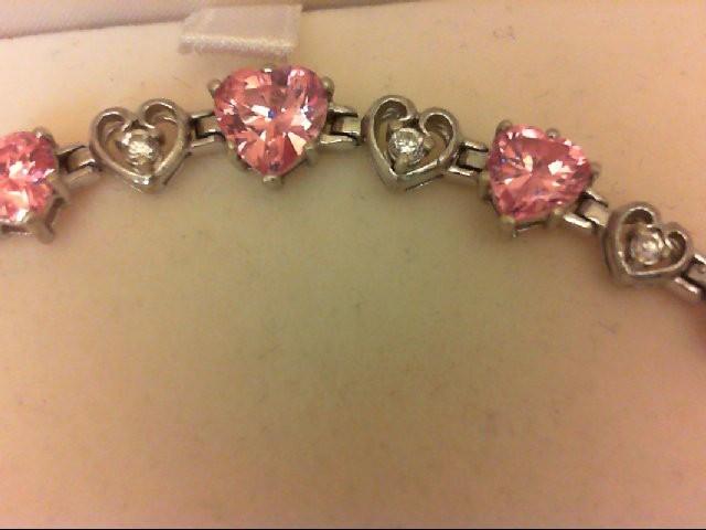 Cubic Zirconia Silver-Stone Bracelet 925 Silver 12.8g