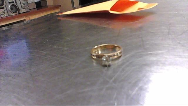 Lady's Diamond Engagement Ring 13 Diamonds .42 Carat T.W. 14K Yellow Gold 2.1g