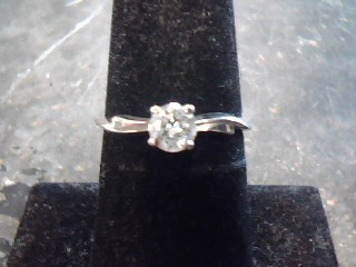 Lady's Diamond Solitaire Ring .25 CT. 14K White Gold 1.2dwt