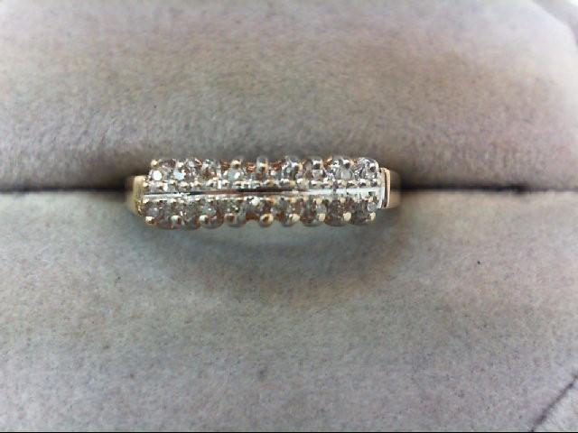 Lady's Diamond Wedding Band 18 Diamonds .18 Carat T.W. 10K Yellow Gold 1.6g