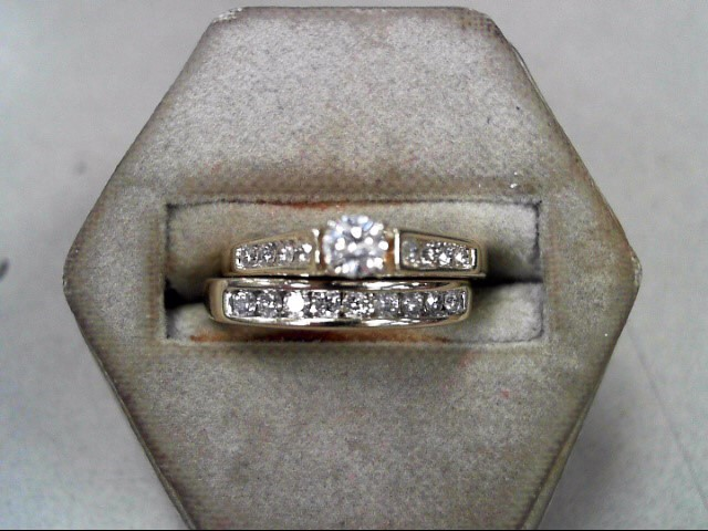 Lady's Diamond Wedding Set 18 Diamonds .53 Carat T.W. 14K Yellow Gold 5.1g