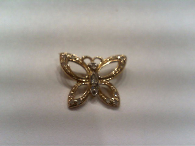 Gold-Multi-Diamond Pendant 16 Diamonds .080 Carat T.W. 10K Yellow Gold 0.4g
