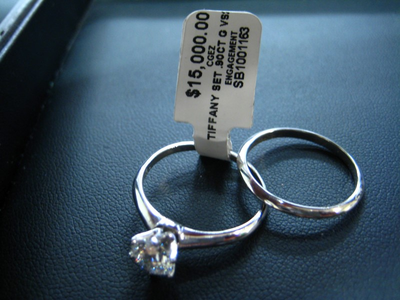 Lady's Platinum Ring 950 Platinum 2g