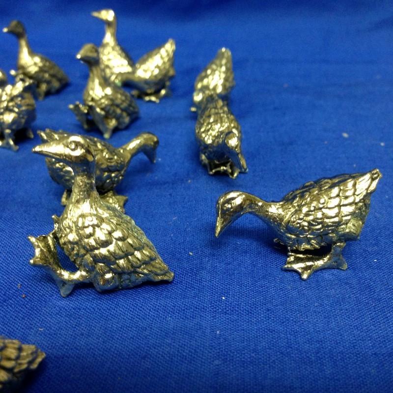 25 birds PEWTER FIGURINES  GEMINI GEMS VINTAGE 1970'S