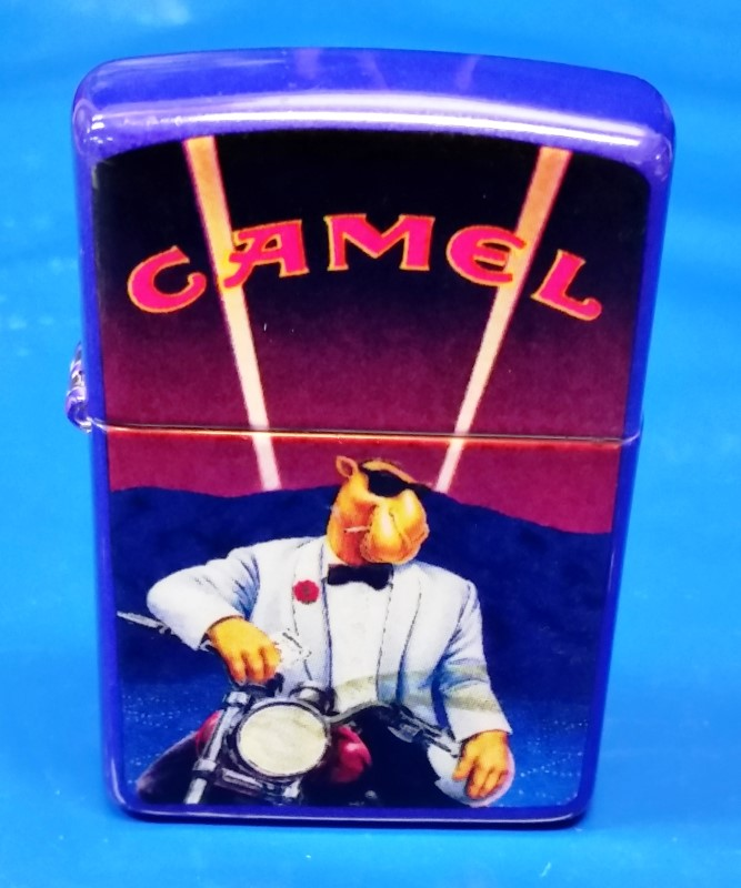 ZIPPO CAMEL JOE ON MOTORCYCLE 1993