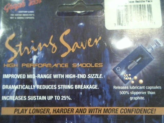 GRAPH TECH STRING SAVER BASS SADDLES,1-SET M\PS803400