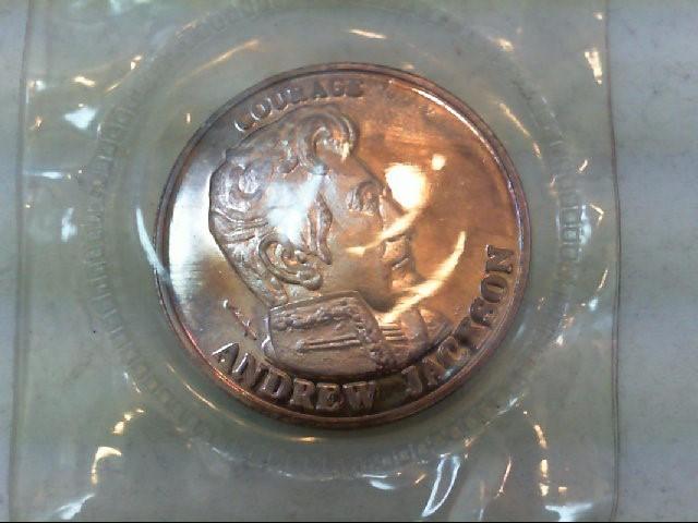 ANDREW JACKSON 1991 240GRAINS .999SILVER LIBERY LOBBY COIN