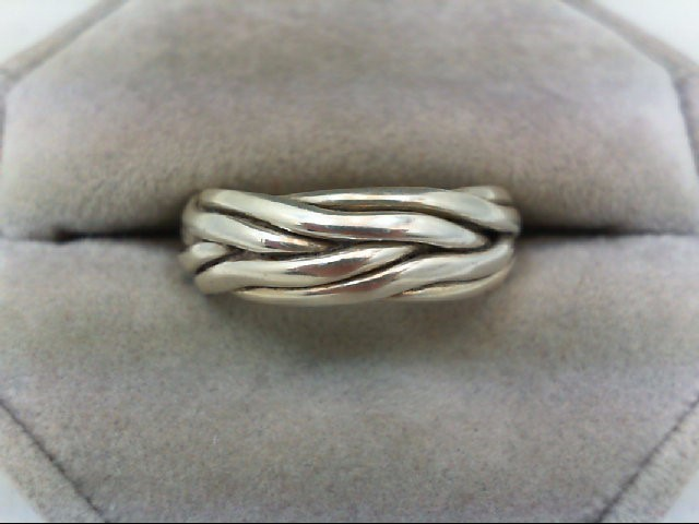 Lady's Silver Wedding Band 925 Silver 8.1g
