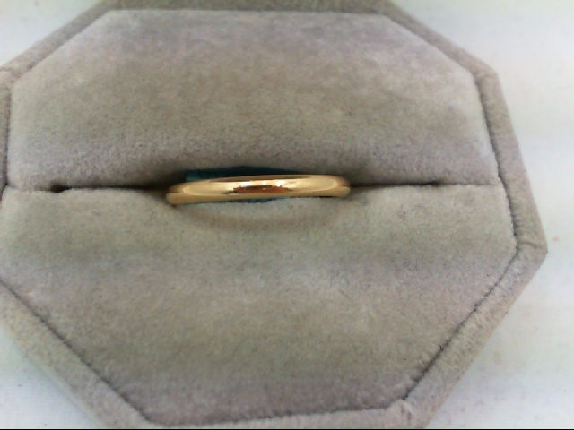 Lady's Gold Wedding Band 14K Yellow Gold 1.5g