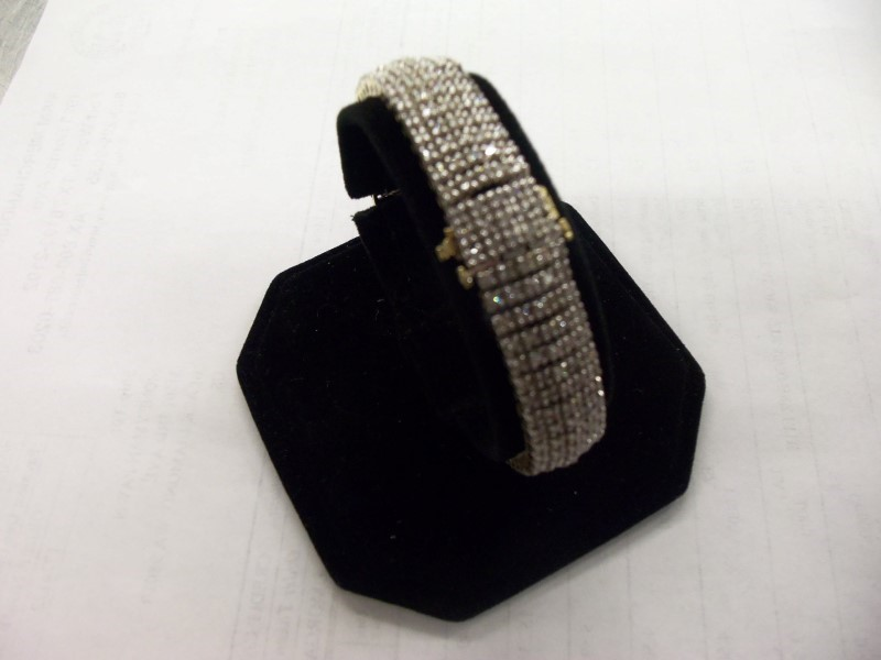 EXQUISITE 14K SOLID GOLD 340 DIAMOND ESTATE BRACELET
