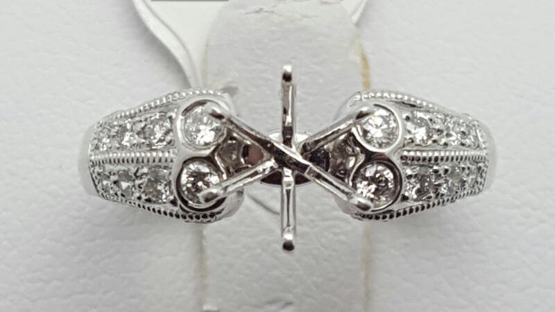 Lady's Platinum-Diamond engagement 41 Diamonds .41 Carat T.W. 950 Platinum 6.7