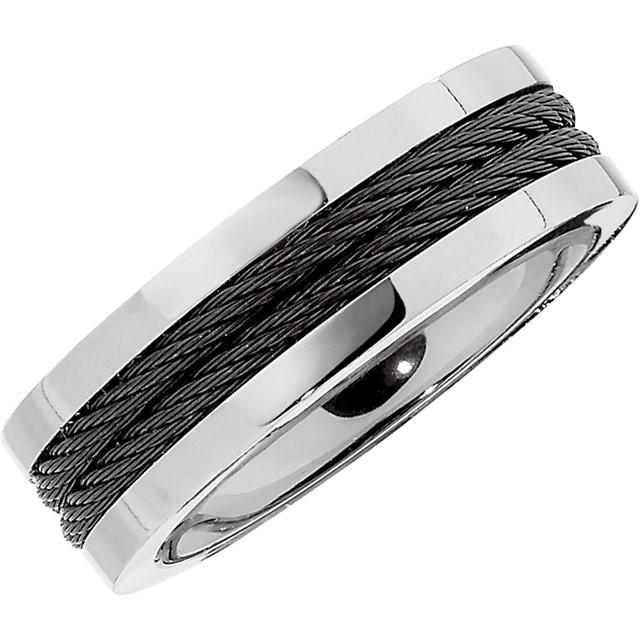 Gent's Ring Silver Titanium 6.8g