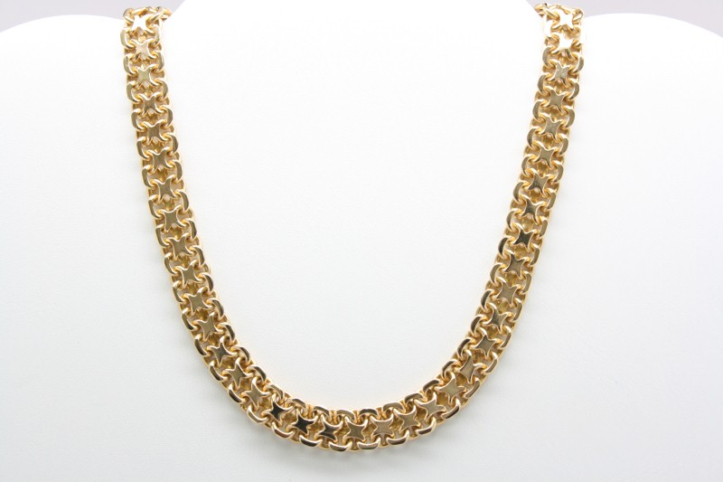 "16"" HEAVY GOLD NECKLACE 18K YELLOW GOLD"