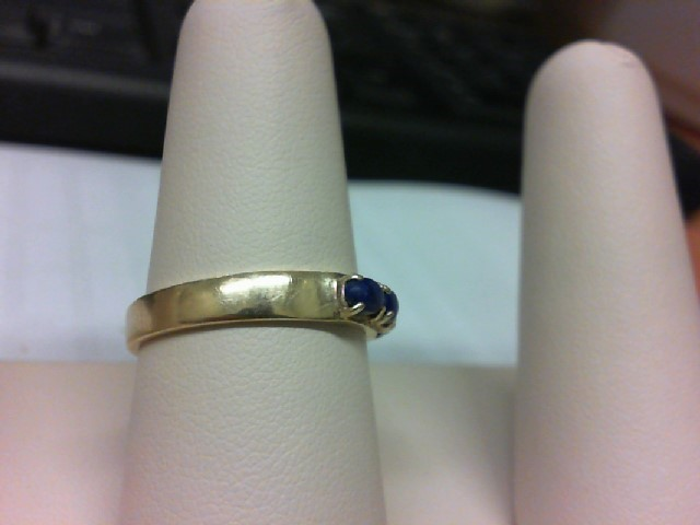 Blue Stone Lady's Stone Ring 14K Yellow Gold 3.1g
