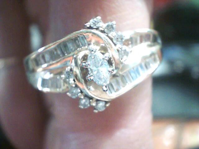 Lady's Diamond Cluster Ring 32 Diamonds .46 Carat T.W. 14K Yellow Gold 3.3dwt