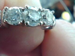 Lady's Diamond Engagement Ring 3 Diamonds .90 Carat T.W. 14K Yellow Gold 2.7dwt