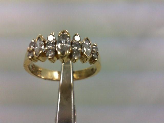 Lady's Diamond Wedding Band 13 Diamonds .67 Carat T.W. 14K Yellow Gold 3.9g
