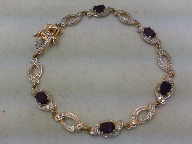 Amethyst Silver-Stone Bracelet 925 Silver 6.7g