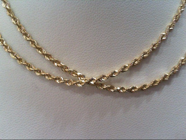 "20"" Gold Rope Chain 14K Yellow Gold 6g"